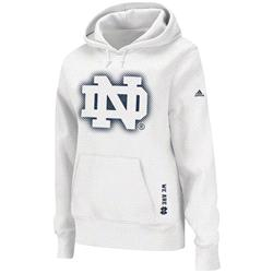 Notre Dame Fighting Irish adidas Women's 2013 Football Sideline Elude Hooded Sweatshirt -White