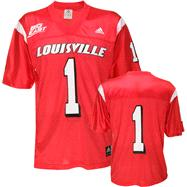 Louisville Cardinals Youth -No. 1- Replica Chase Football Jersey