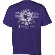 TCU Horned Frogs Football Diode Retro Graphic Stat T-Shirt