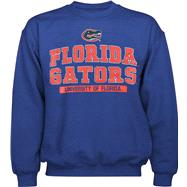 Florida Gators Royal Embroidered Logo Crew Neck Fleece Sweatshirt