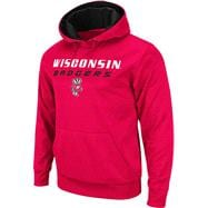 Wisconsin Badgers Red Bootleg Hooded Sweatshirt