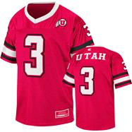 Utah Utes Youth Red Stadium Football Jersey