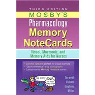Mosby's Pharmacology Memory NoteCards : Visual, Mnemonic, and Memory Aids for Nurses,9780323078009