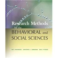 Research Methods for the Behavioral and Social Sciences,9780470458037