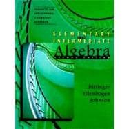 Elementary and Intermediate Algebra, Concepts and Applications : A Combined Approach,9780201768046