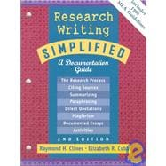 Research Writing Simplified : MLA Update