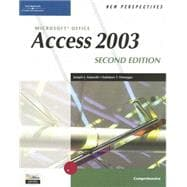 New Perspectives on Microsoft Office Access 2003, Comprehensive, Second Edition,9780619268114