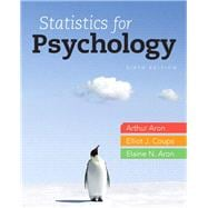 Statistics for Psychology,9780205258154