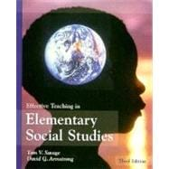 Effective Teaching in Elementary Social Studies,9780133708264