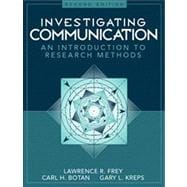 Investigating Communication : An Introduction to Research Methods,9780205198269