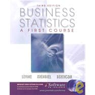 Business Statistics : A First Course,9780130348272