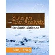 Statistics and Data Analysis for Social Science,9780205728275