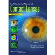Clinical Manual of Contact Lenses, 9780781778299  