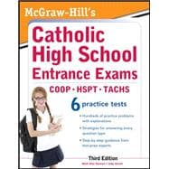 McGraw-Hill's Catholic High School Entrance Exams, 3rd Edition,9780071778305