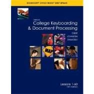 Gregg College Keyboarding &amp; Document Processing (GDP); Microsoft Word 2007 Update, Lessons 1-60 text,9780073368313