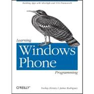 Learning Windows Phone Programming, 9781449388362  