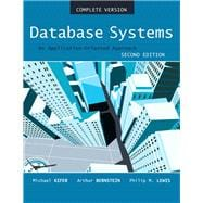 Database Systems An Application Oriented Approach, Compete Version,9780321268457