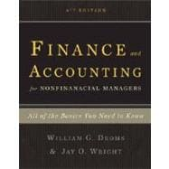 Finance and Accounting for Nonfinancial Managers : All the B..., 9780465018499  