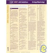 CPT 2007 Express Reference Coding Card Urology/Nephrology,9781579478513