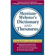 Merriam-webster's Dictionary And Thesaurus,9780877798514