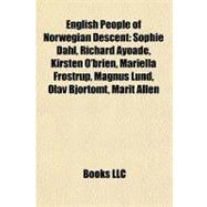 English People of Norwegian Descent : Sophie Dahl, Richard Ayoade ...