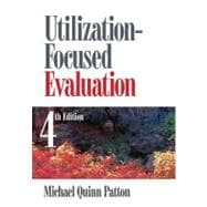 Utilization-Focused Evaluation,9781412958615