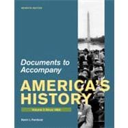 Documents for America's History, Volume II: Since 1865,9780312648633