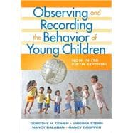 Observing and Recording the Behavior of Young Children,9780807748824
