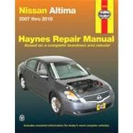 Nissan Altima Automotive Repair Manual 2007 Thru 2010, 9781563928963