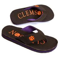 Clemson Tigers Canvas Flip Flops