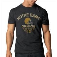 Notre Dame Fighting Irish '47 Brand Charcoal Historical Champions Vintage Scrum T-Shirt