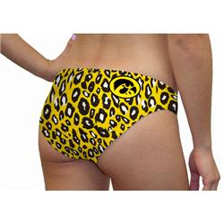 Iowa Hawkeyes Women's Lady Cat Print Swim Suit Bottom