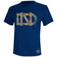 Notre Dame Fighting Irish adidas Youth Navy Balboa Heathered T-Shirt