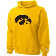 Iowa Hawkeyes Kids 4-7 Gold Tackle Twill Hooded Sweatshirt