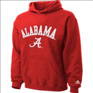 Alabama Crimson Tide Kids 4-7 Crimson Tackle Twill Hooded Sweatshirt