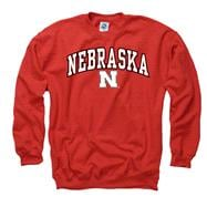 Nebraska Cornhuskers Youth Red Perennial II Crewneck Sweatshirt