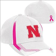 Nebraska Cornhuskers Breast Cancer Awareness Flex Hat