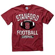 Stanford Cardinal Youth Cardinal Jock Football T-Shirt