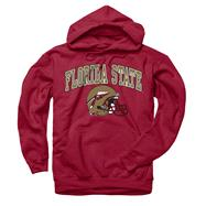 Florida State Seminoles Cardinal Football Helmet Hooded Sweatshirt