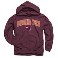 Virginia Tech Hokies Youth Maroon Football Helmet Hooded Sweatshirt