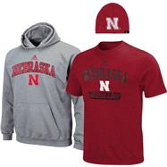 Nebraska Cornhuskers Youth adidas Red Cap, Hoodie & Tee, 3 Pack Set
