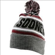 Oklahoma Sooners Cardinal Stryker Pom Top Cuffed Knit Hat
