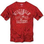 Wisconsin Badgers '47 Brand Vintage Scrum Tee
