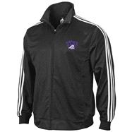 TCU Horned Frogs adidas Black 3-Stripe Track Jacket