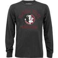 Florida State Seminoles Charcoal Vintage Avalanche Slub Long Sleeve Tee