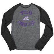 TCU Horned Frogs Black adidas Originals Gym Class Tri-Blend Long Sleeve Tee