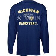 Michigan Wolverines Legacy Basketball Long Sleeve T-Shirt