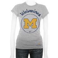 Michigan Wolverines Women's Oxford Circle Cube T-Shirt