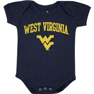 West Virginia Mountaineers Newborn/Infant Navy Big Fan Creeper