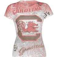 South Carolina Gamecocks Women's Sublimation Burnout T-Shirt